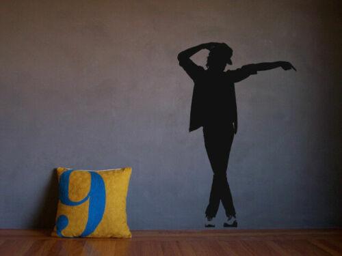 Wall Vinyl Sticker Room Decal Mural Design Dancer Pop Music Legend Hat bo2230
