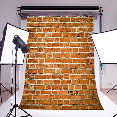 5X7FT Thin Vinyl Backdrop Photography Prop Retro Red Brick Wall Background HB19