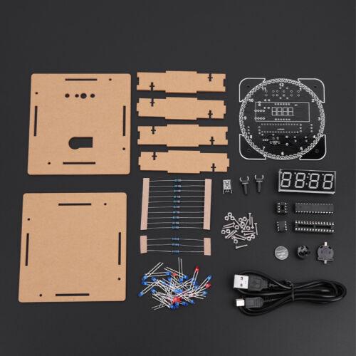 DIY Kit Rotation LED Clock Elektronisch Digital Temperatur-Uhren-Kit im Bausatz✪