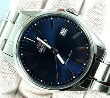 New Orient stainless steel blue dial automatic 42mm date watch FER2D003D0