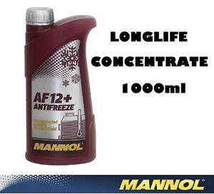 Details about MANNOL GERMANY 1LT CONCENTRATE ANTIFREEZE / SUMMER COOLANT  MIXES WITH ALL RED