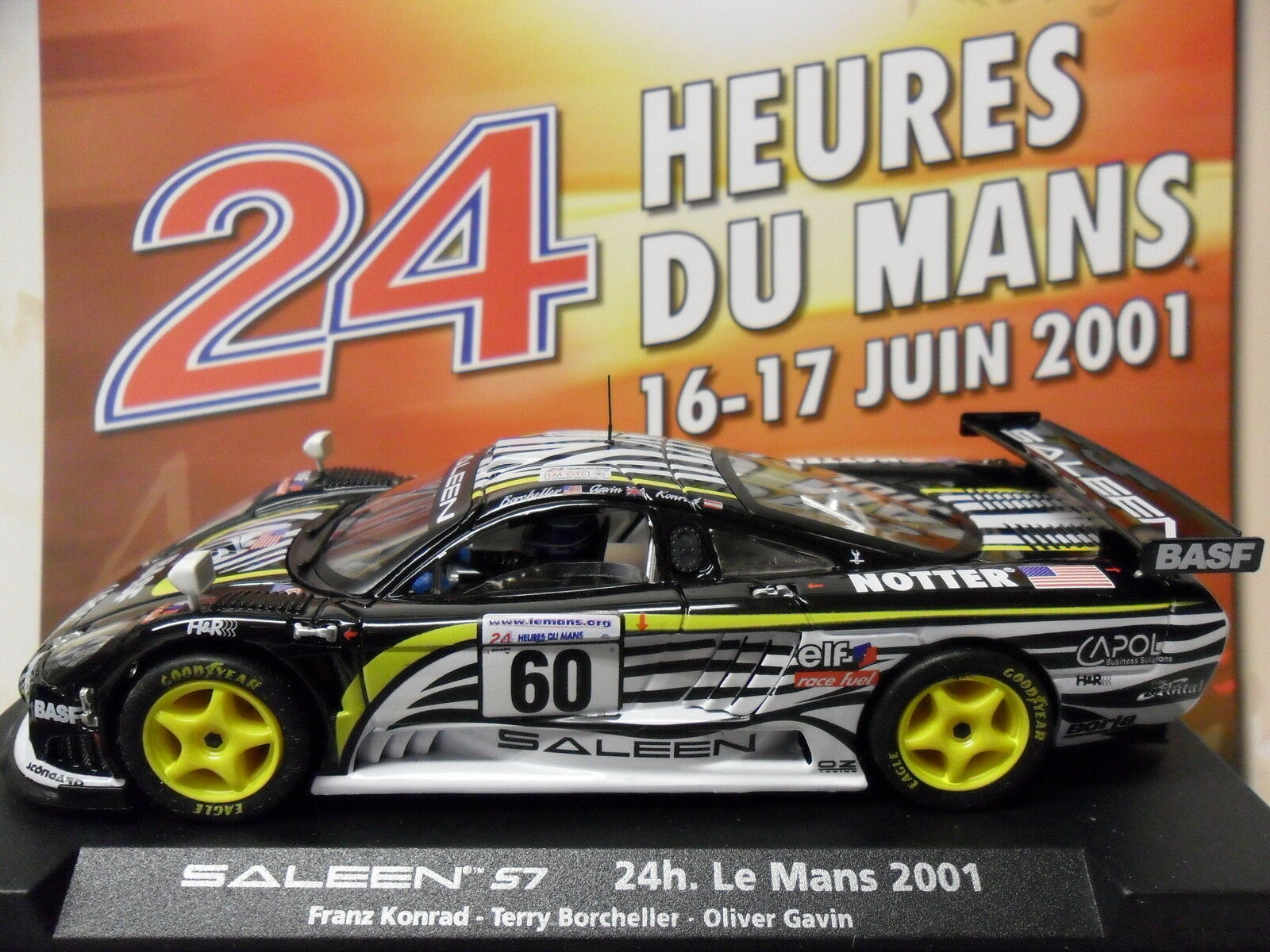 FLY A262   88044 SALEEN S7R LE MANS 2001 1 32 SLOT CAR FOR SCALEXTRIC