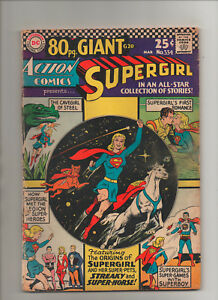 Action-Comics-334-80-Page-Giant-Supergirl-Grade-3-0-1966