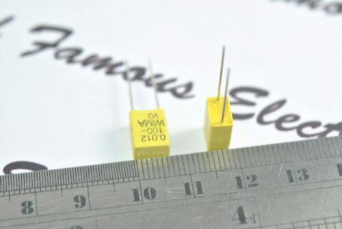 10pcs-WIMA FKC2 0.012uF 100V 5/% pitch:5mm polycarbonate Capacitor 0,012µF 12nF