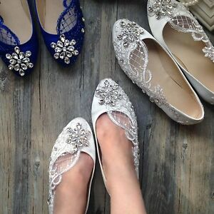 e515af52fa3 Satin White Ivory Blue Lace Gem Lady Wedding Formal Bridal Bridemaid ...