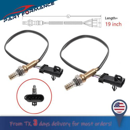 2pcs Upstream O2 Oxygen Lambda Sensor 25171579 for Chevrolet GMC K1500 C1500