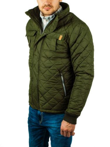 Herren Winter Steppjacke Jacke oliv Jacket Parka Bomberjacke Vintage Feldjacke