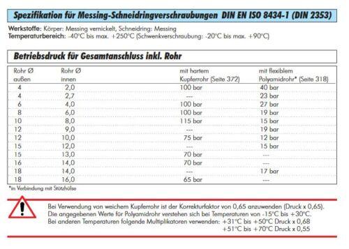 Schwenkverschraubung AG Schneidringverschraubung MS vern Verschraubung