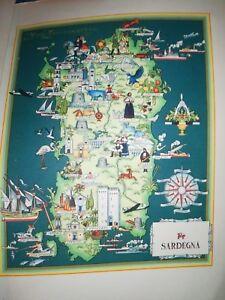 Cartina Sardegna Oristano.50 Vecchia Cartina Sardegna Oristano Cagliari Nuoro Carbonia Sassari Alghero Ebay