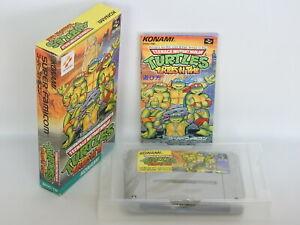 TURTLES-IN-TIME-Teenage-Mutant-ref-065-Free-Shipping-Super-Famicom-Nintendo-sf