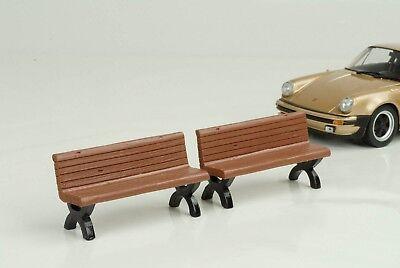 Panca Bench 2 Set Senza Figura Veicolo 1:24 American Diorama