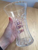 Vintage Cut Glass Vase VGC