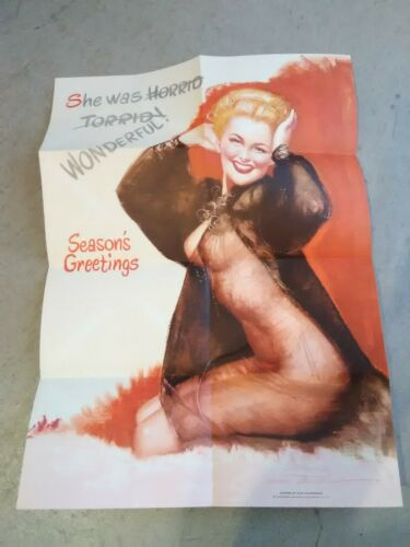 1940-50s BUDWEISER BEER COMPANY HARD TO FIND PIN UP GIRL POSTER POSTCARD!