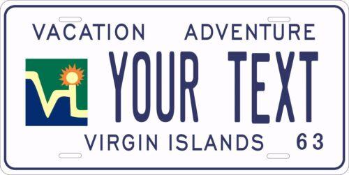Virgin Islands 1963 License Plate Personalized Custom Car Bike Motorcycle Moped