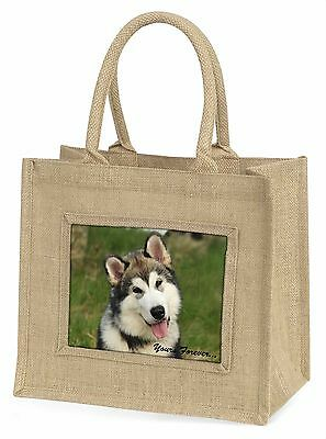 Alaskan Malamute Yours Forever  Große Natürliche Jute-einkaufstasche,