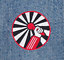 environ 8.13 cm Cool style vintage HIP HOP RAP DJ Microphone shirt patch badge 8 cm//3.2 in