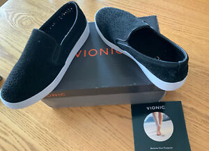 Vionic-Women-039-s-Orthaheel-Splendid-Midiperf-BLACK-Slip-On-Sneaker-Size-8-5-US