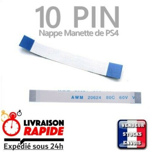 nappe ruban pavé tactile touchpad flex ribbon manette controller 10 pin SONY PS4