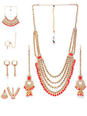 Indian Bollywood Heavy Bridal Kundan Choker Necklace Sets Weddings