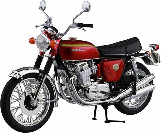 K0 Aoshima Skynet 04323 Honda CB750FOUR Candy Red 1//12 Scale Finished Model