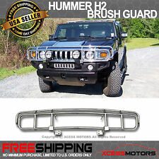 03-09 Hummer H2 H2T Sut SUV Chrome Front Brush Guard Grille Guard Grill