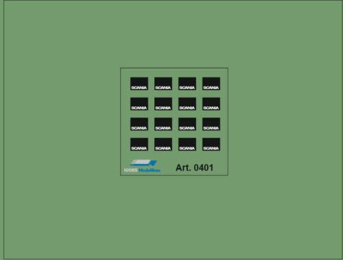 HO//1:87 DIS0401 Scania Spritzlappen aus Polystyrol für ZGM und Auflieger