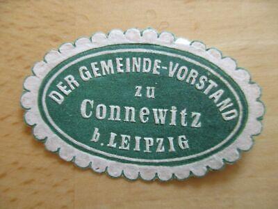 Leipzig Siegelmarke Gemeinde-vorstand Zu Connewitz B 21104