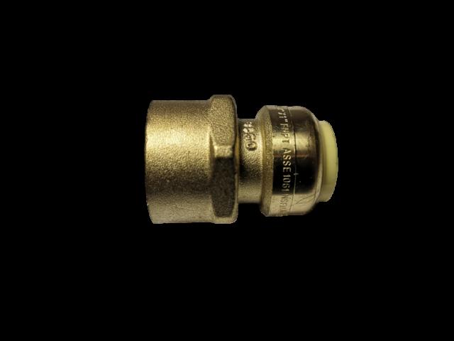 """10 1/"""" Sharkbite Style Push-Fit x 3//4/"""" FNPT Lead-Free Brass FNPT Adapters"""