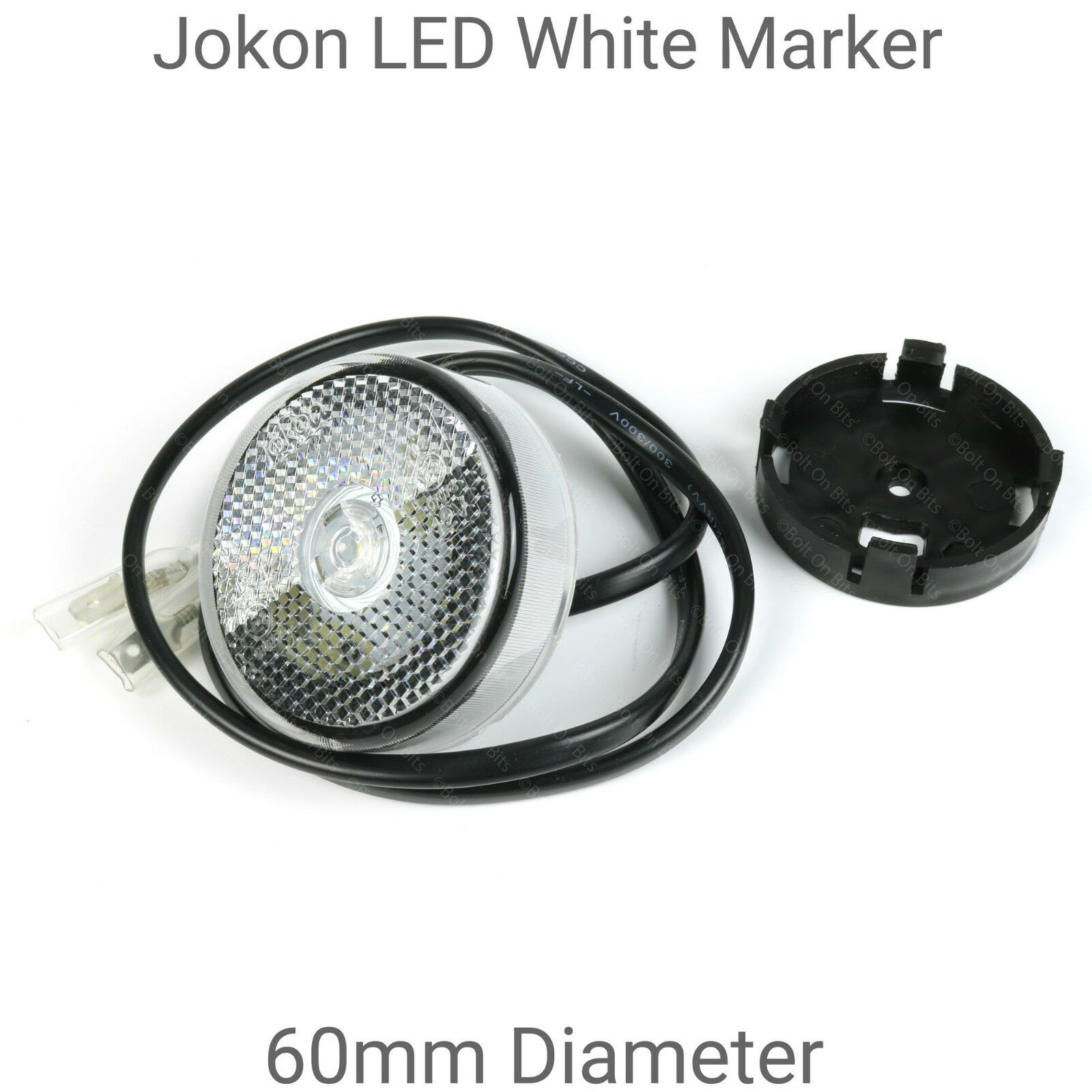 1 Pair of Jokon 60mm Round LED White Marker Lights