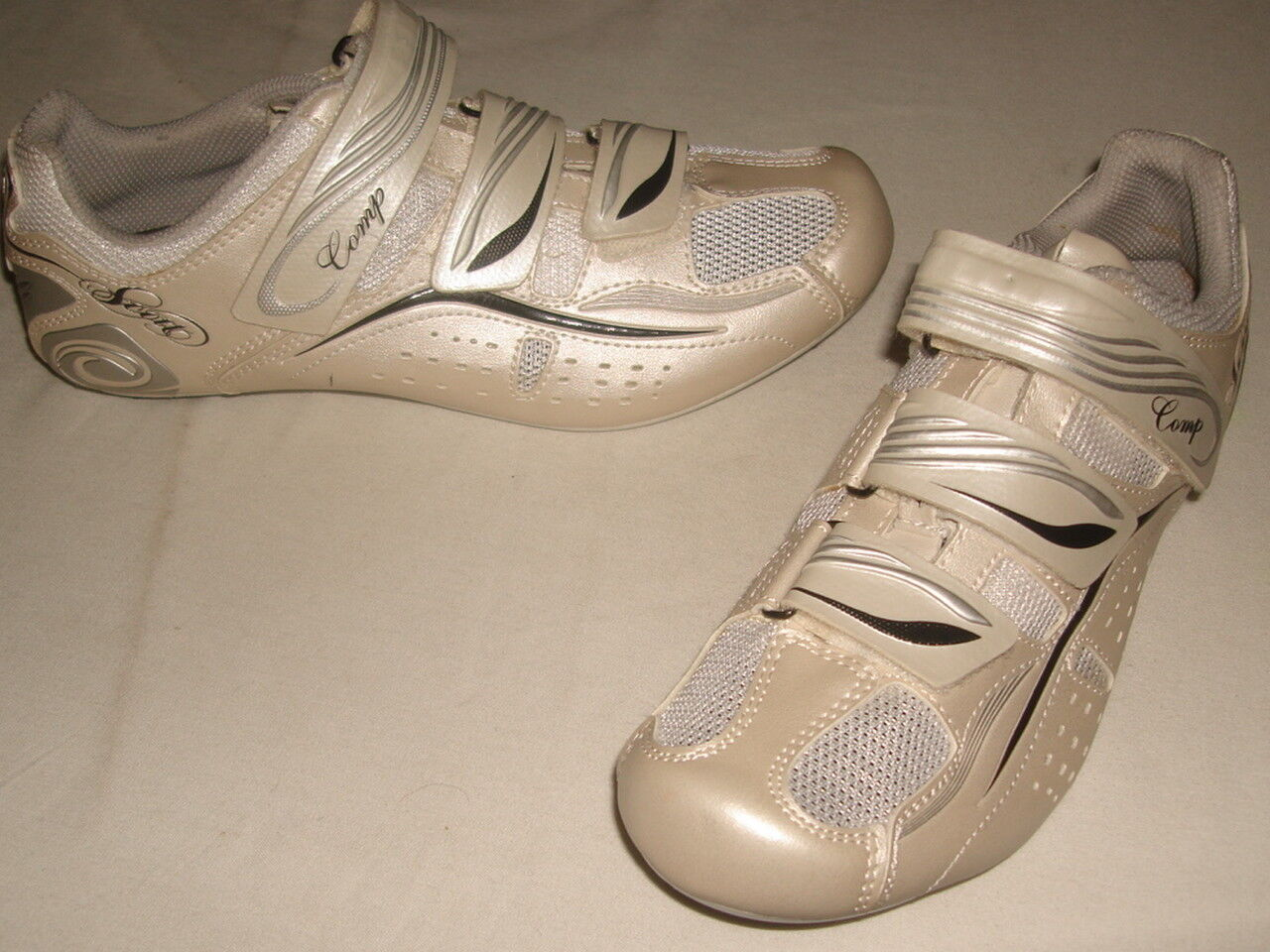 NWOB Scott Comp Champagne Wht. Lady Women's Road  Cycling shoes Sz. US 6.5  low 40% price