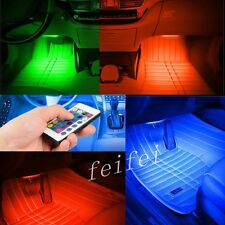 4x RGB 9LED Car Charge Interior Accessories Foot Car Decorative Car Light