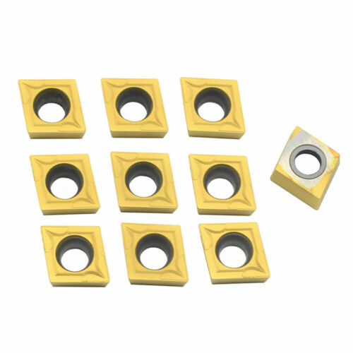 10x CCMT09T304 CCMT32.5 CNC Carbide Inserts For Lathe SCLCR Turning Holder Tool