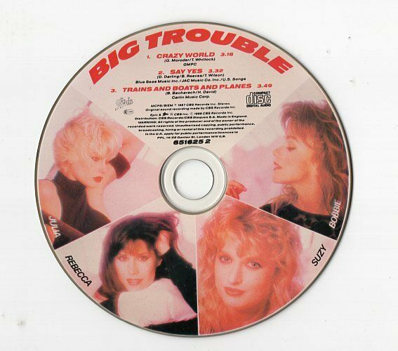Big Trouble Maxi-CD CRAZY WORLD ©UK 1988 Synth-pop picture disc Epic 3-track