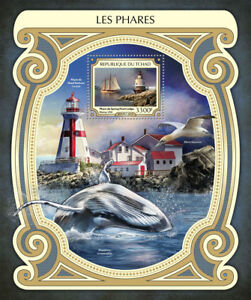 Chad-2017-MNH-Lighthouses-Spring-Point-Ledge-Lighthouse-1v-S-S-Ships-Stamps
