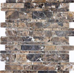 Das Bild Wird Geladen Naturstein Mosaik Braun Emparador Fliesenspiegel Kueche Bad 40