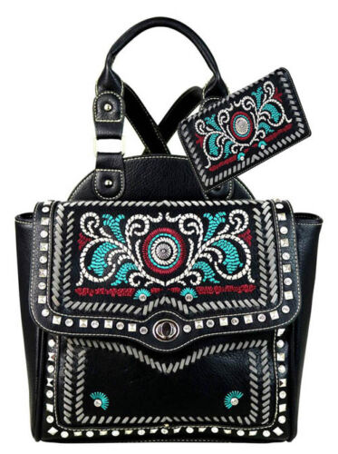 Montana West Embroidered Collection Backpack Set MW594-9210