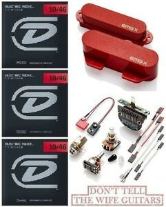 EMG TCX SET RED 2 TELE PICKUPS FTCX /& RTCX ACTIVE TELECASTER REPLACEMENT