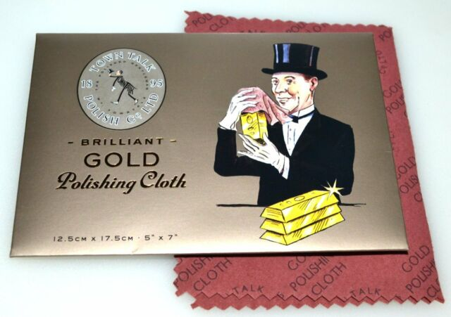 """Town Talk Gold Jewellery Cleaning & Polishing Cloth, 5""""X7"""" Stocking Fillers Gift"""