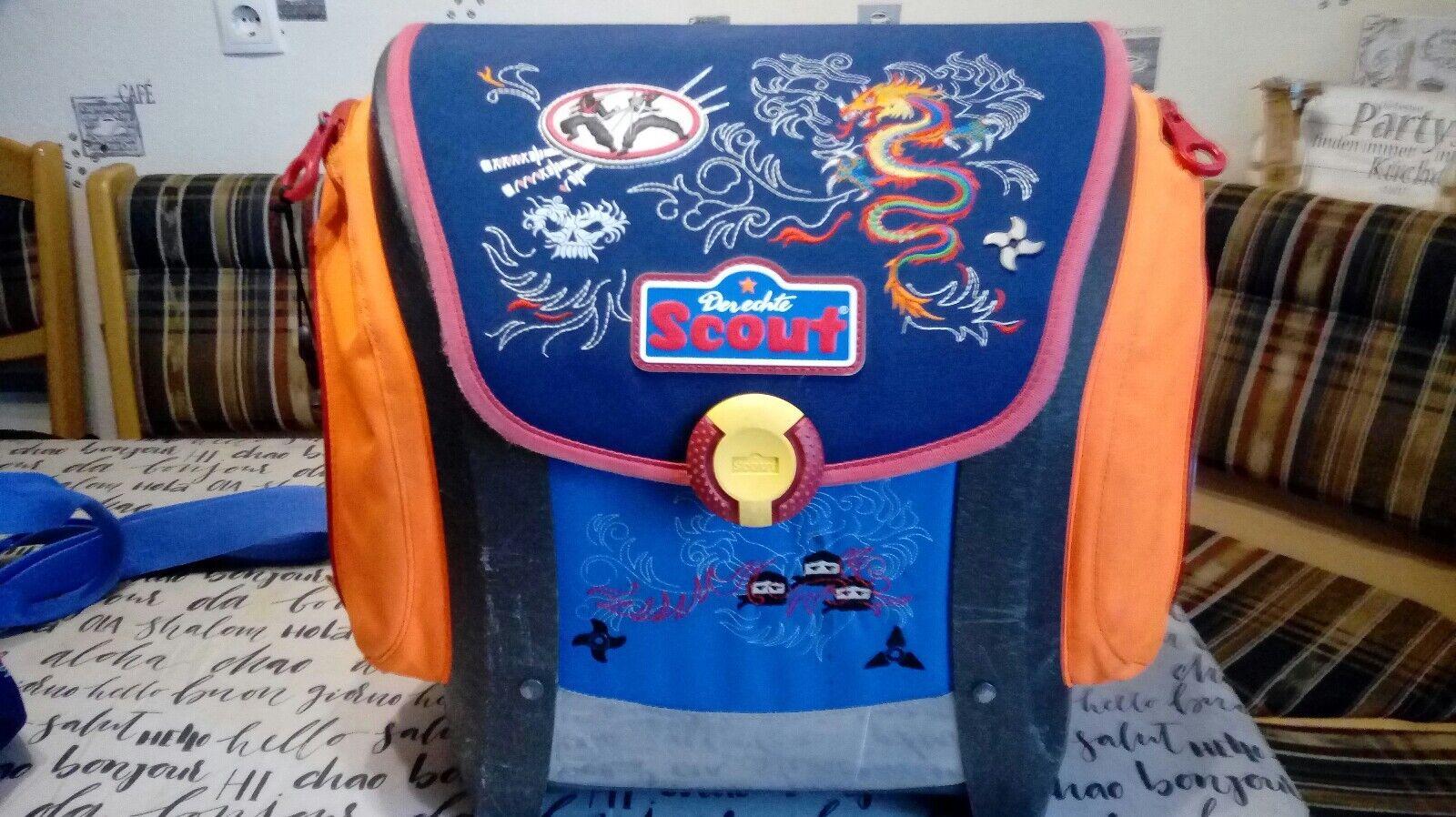 Scout Mega Schulranzen-Set 5tlg. Ninja gebraucht | Geeignet für Farbe  | Ideales Geschenk für alle Gelegenheiten  | Wunderbar