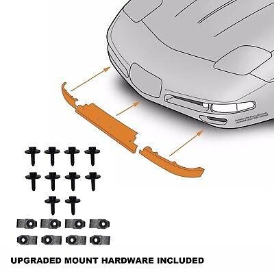 C5 Corvette Front Lower Spoiler with Upgraded Hardware Fits All 97-04 Corvette