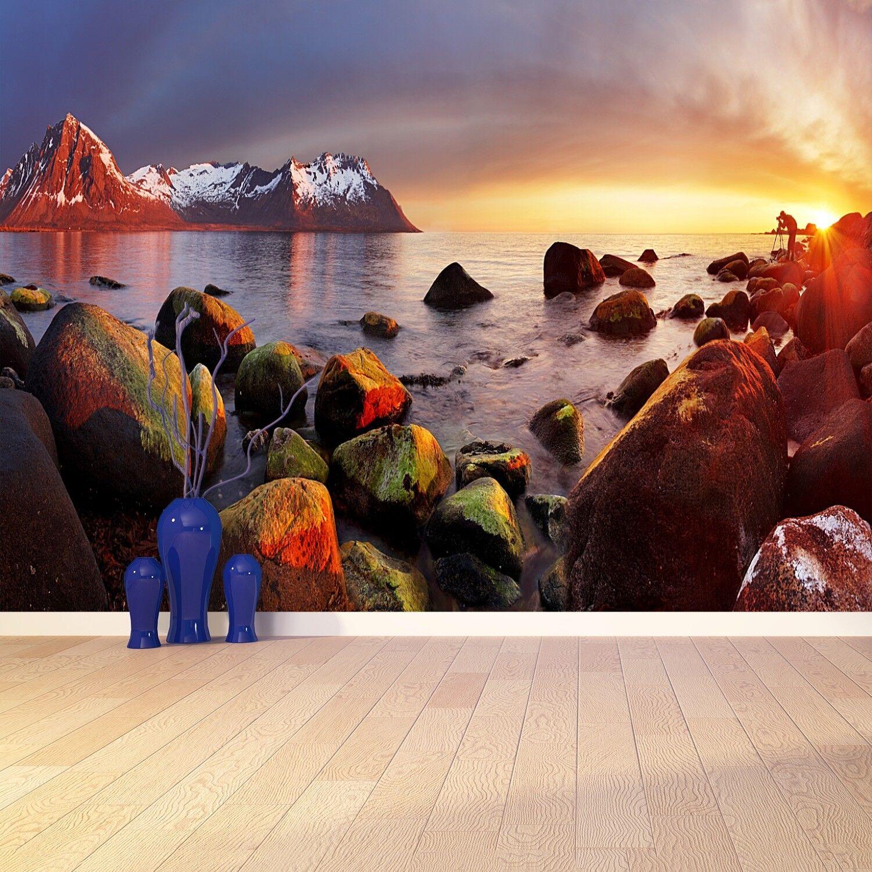 Fototapete Selbstklebend Einfach ablösbar Mehrfach klebbar Ozean Norwegen