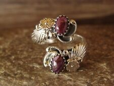 Navajo Indian Jewelry Sterling Silver Purple Spiny Oyster Adjustable Ring!