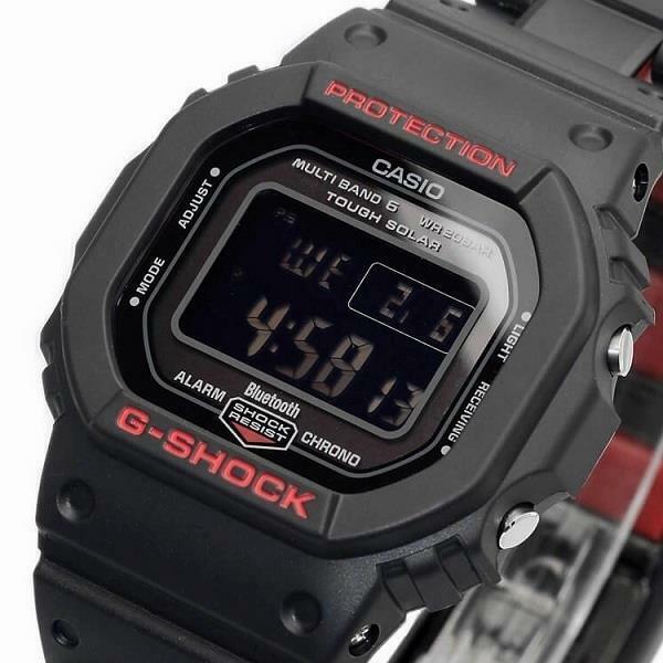 Casio G Shock Gwb5600hr Gw B5600hr 1 Multiband 6 Bluetooth Solar Black X Red
