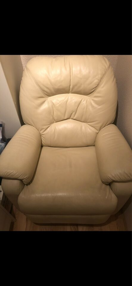 Komfortstol, læder