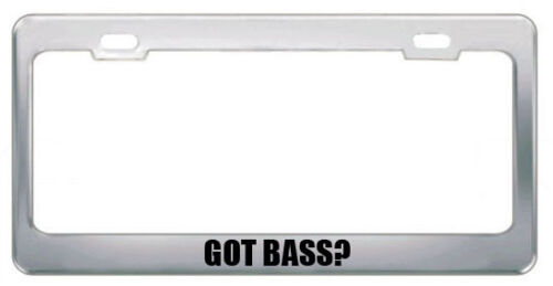 GOT BASS FISH ANIMALS PETS License Plate Frame Tag Holder