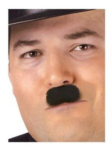 Charlie-Chaplin-Moustache-Western-Fake-Novelty-Facial-Hair-Funny-Mustache-Black