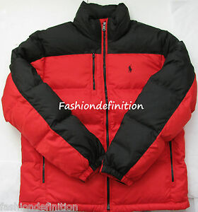 Jacket Coat New Polo Puffer Snow Nwt Lauren Red Ralph Core Trek Black About Down Details Men vwmNnO80