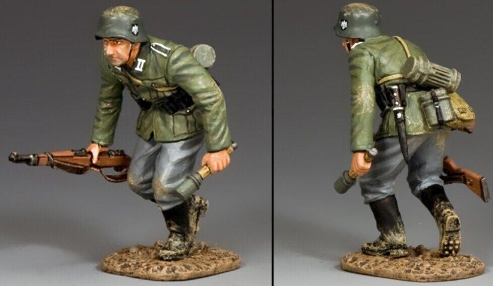 King & Country Ww2 Ejército Alemán Wh038 Running Tirador Granadero MIB