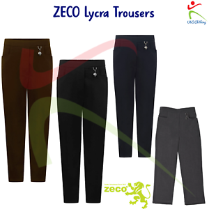 NEW!! Navy Zeco Girls School Trousers Various Sizes