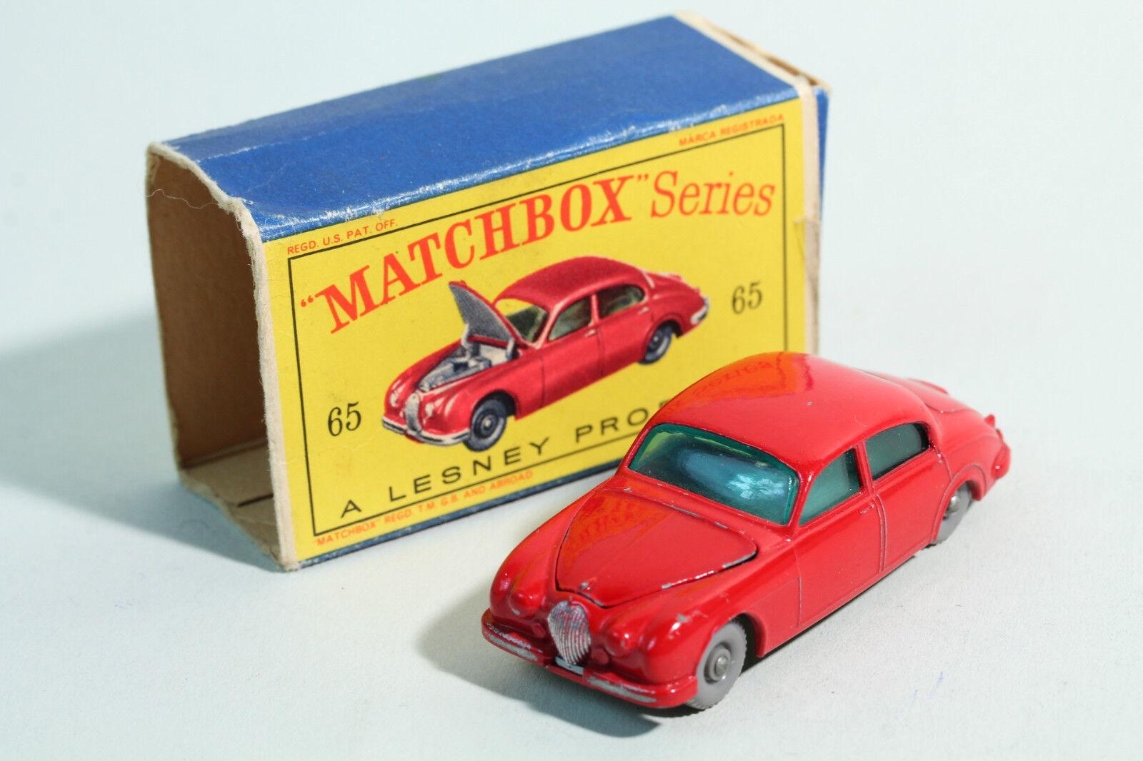 1962 MATCHBOX-no 65 1  JAGUAR 3.4 L Saloon-LESNEY Prod. Neuf dans sa boîte  grosses soldes